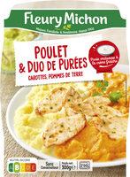 Poulet & duo de purées, carottes, pommes de terre - Prodotto - fr