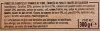 Poulet & duo de purées, carottes, pommes de terre - Ingredienti - fr