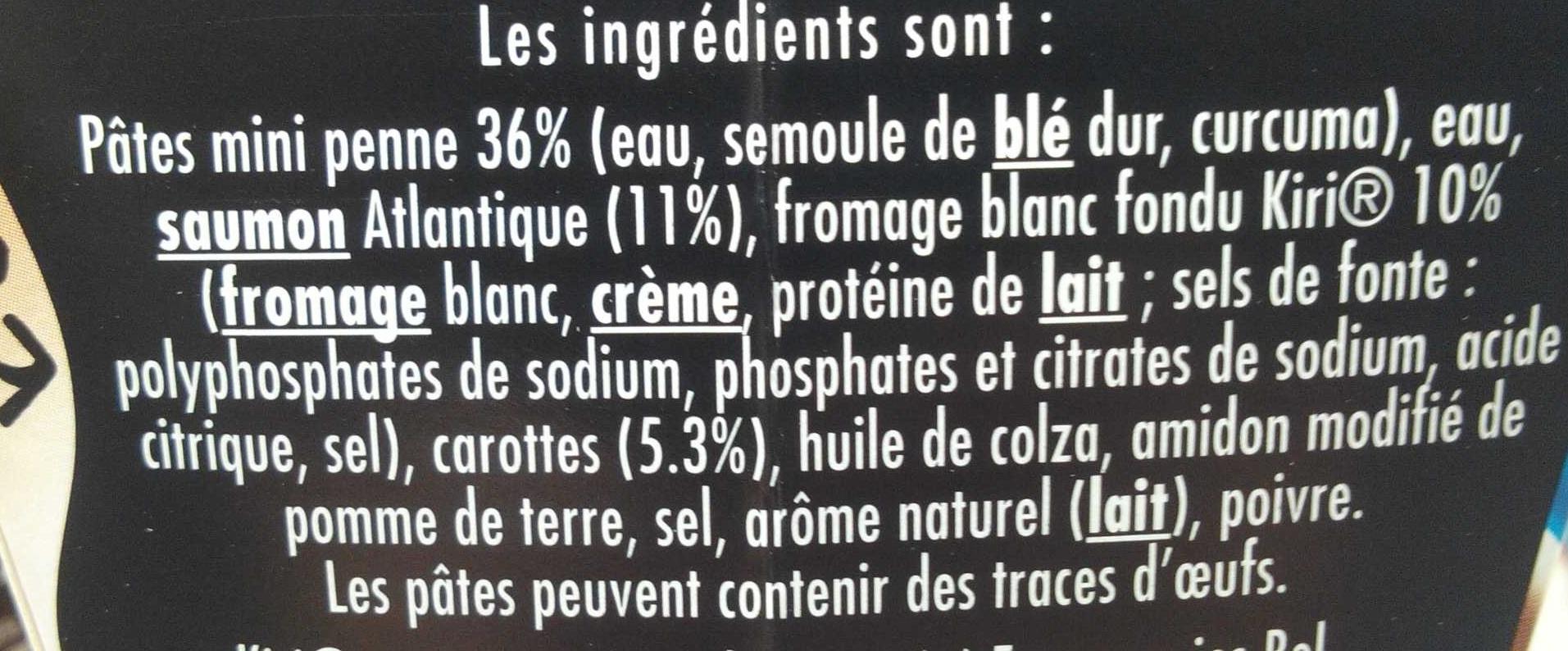 Vraiment Kiri - penne saumon - Ingrédients