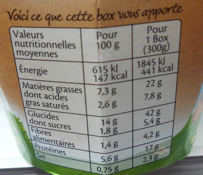 Vraiment Kiri - penne saumon - Informations nutritionnelles