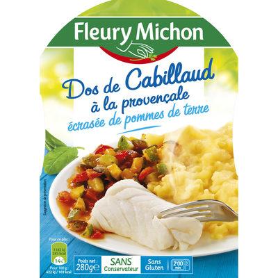 Dos de cabillaud à la provençale écrasée de pommes de terre - Product