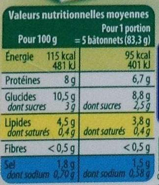 Le Bâtonnet Moelleux (+ 4 Bâtonnets Gratuits soit 34 bâtonnets) - Voedingswaarden - fr