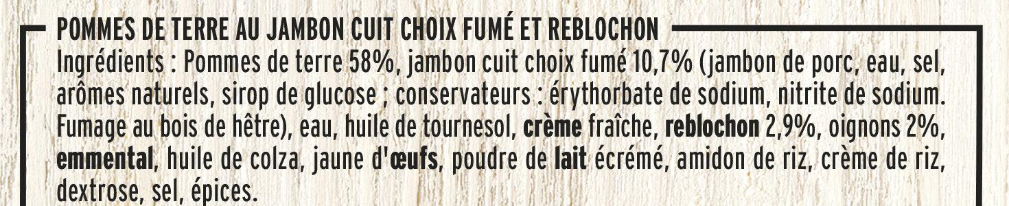 Poêlée Savoyarde & lardons fumés - Ingrédients - fr