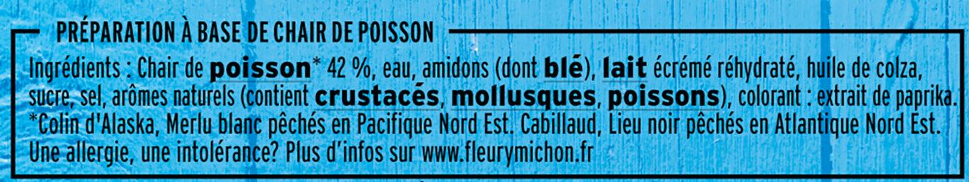 Le bâtonnet Moelleux - 15 bâtonnets - Ingredients - fr