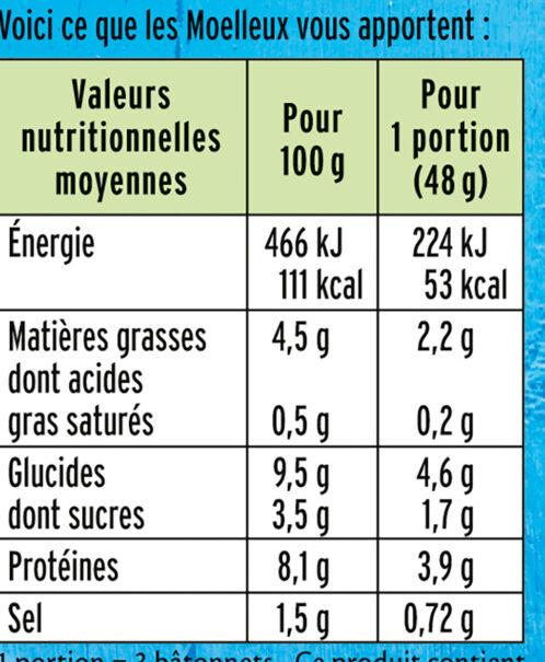 Le Moelleux - Valori nutrizionali - fr