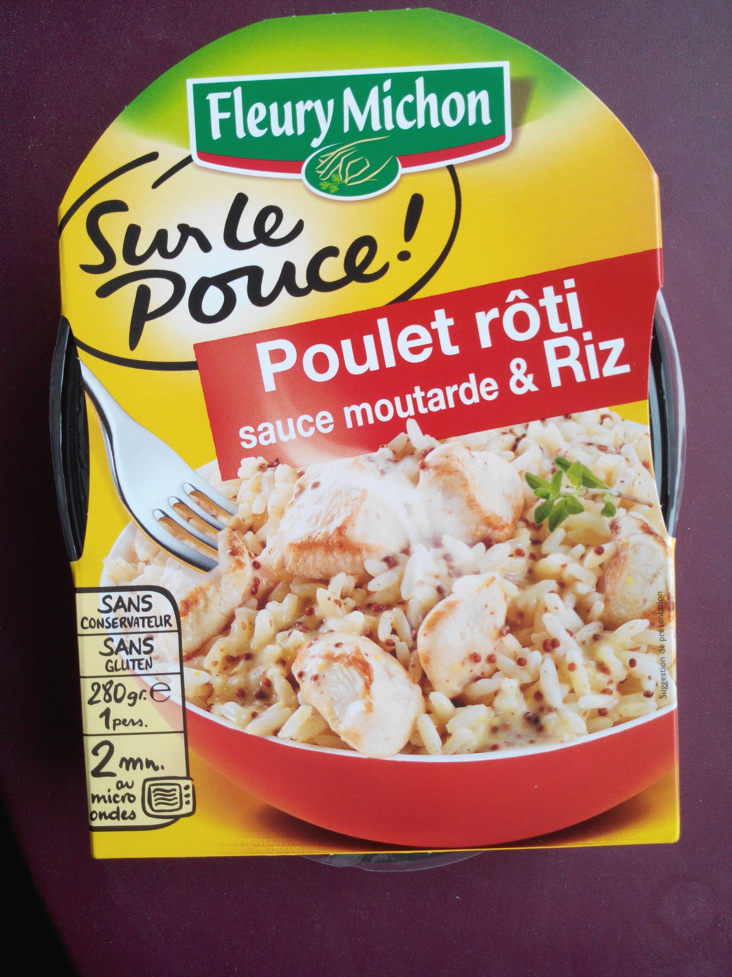 poulet r ti sauce moutarde riz fleury michon 280 g. Black Bedroom Furniture Sets. Home Design Ideas