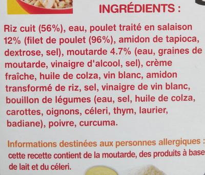 Poulet r ti sauce moutarde riz fleury michon a consommer quelquefois en quantit mod r e - Vinaigre blanc composition ...