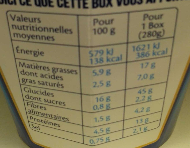 Box à la Bretonne (Pâtes conchiglie aux Saint-Jacques*, cidre breton & crème) - Voedingswaarden