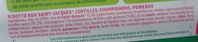 Risotto de Saint Jacques* aux poireaux et lentilles - Ingrédients