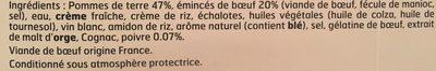 Emincés de boeuf sauce poivre & pommes de terre - Ingrédients - fr