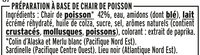 Le bâtonnet Moelleux - 20 bâtonnets - Ingrédients - fr