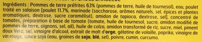 Sur le Pouce! Poulet sauce Barbecue Pommes de terre - Ingredients