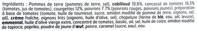 Cabillaud légumes du soleil gratinés - Ingredients