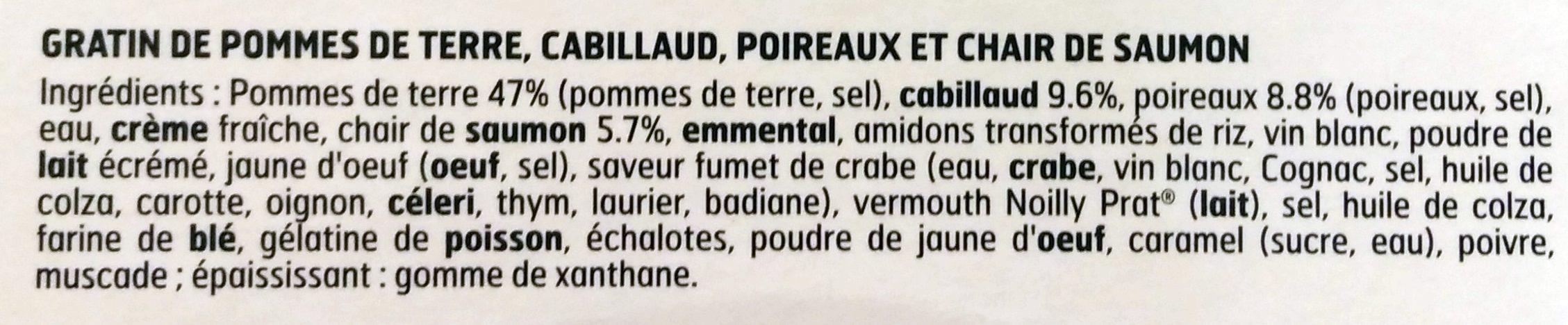Gratin de Poisson pommes de terre et poireaux - Ingrédients - fr