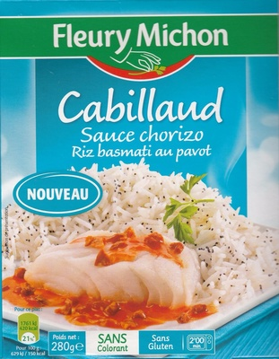 Cabillaud Sauce chorizo Riz basmati au pavot - Product