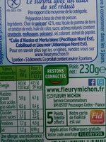Le bâtonnet -25% de sel - 14 bâtonnets - Ingredients