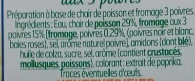 le Cœur Frais fromage 3 Poivres (16 Bâtonnets) - Ingrédients