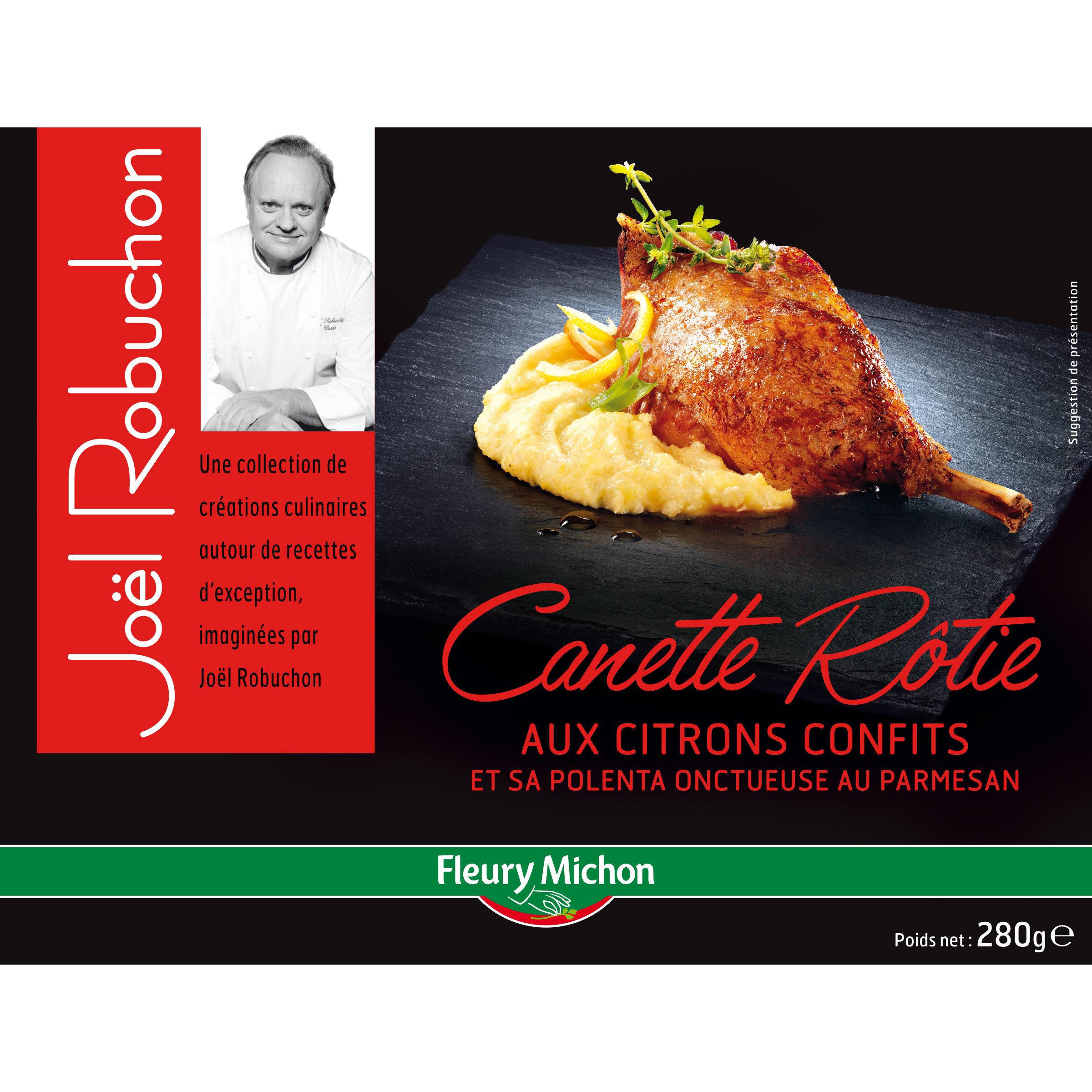 Canette rôtie aux citrons confits et sa polenta onctueuse au  parmesan - Product