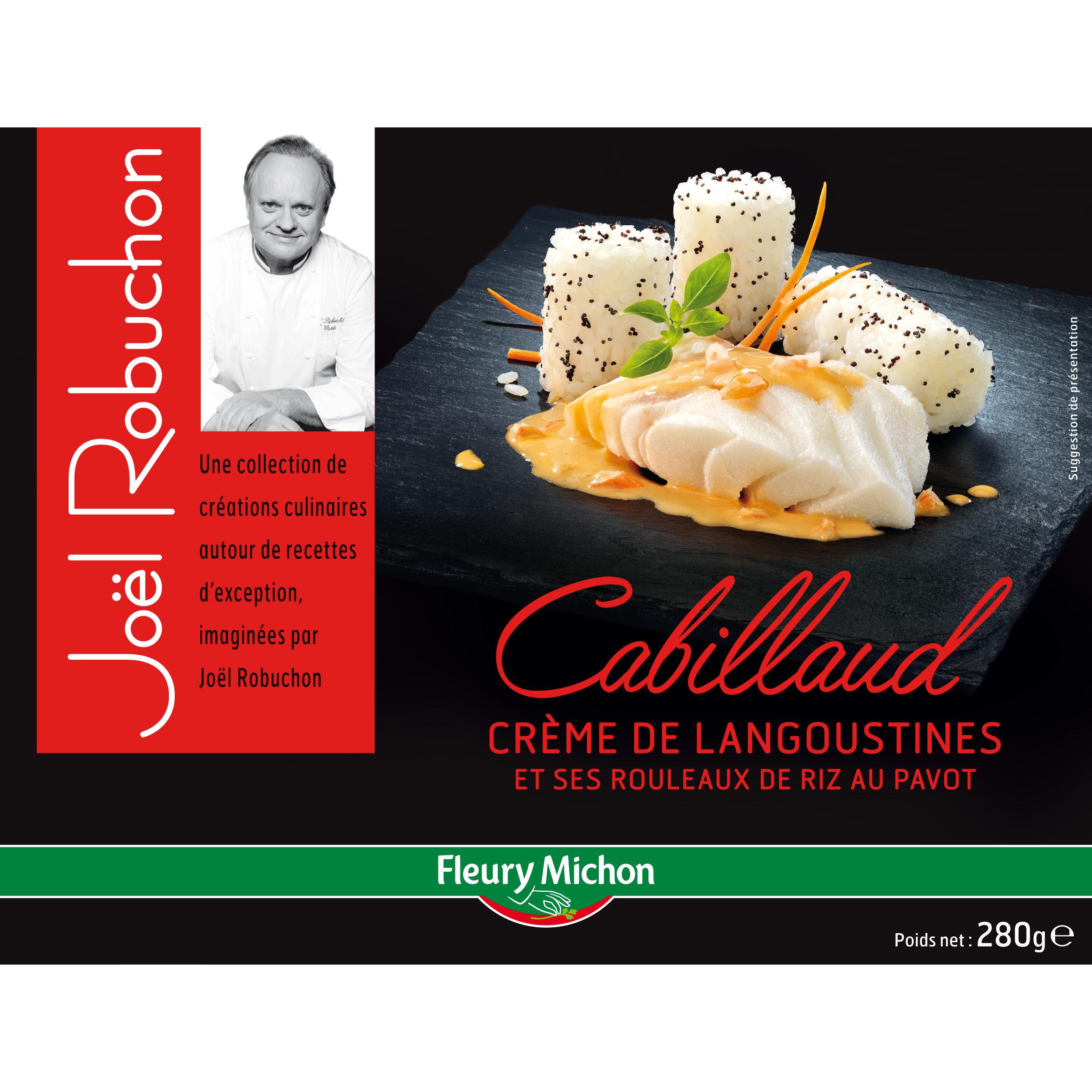 Cabillaud crème de langoustines et ses rouleaux de riz au pavot - Produit - fr
