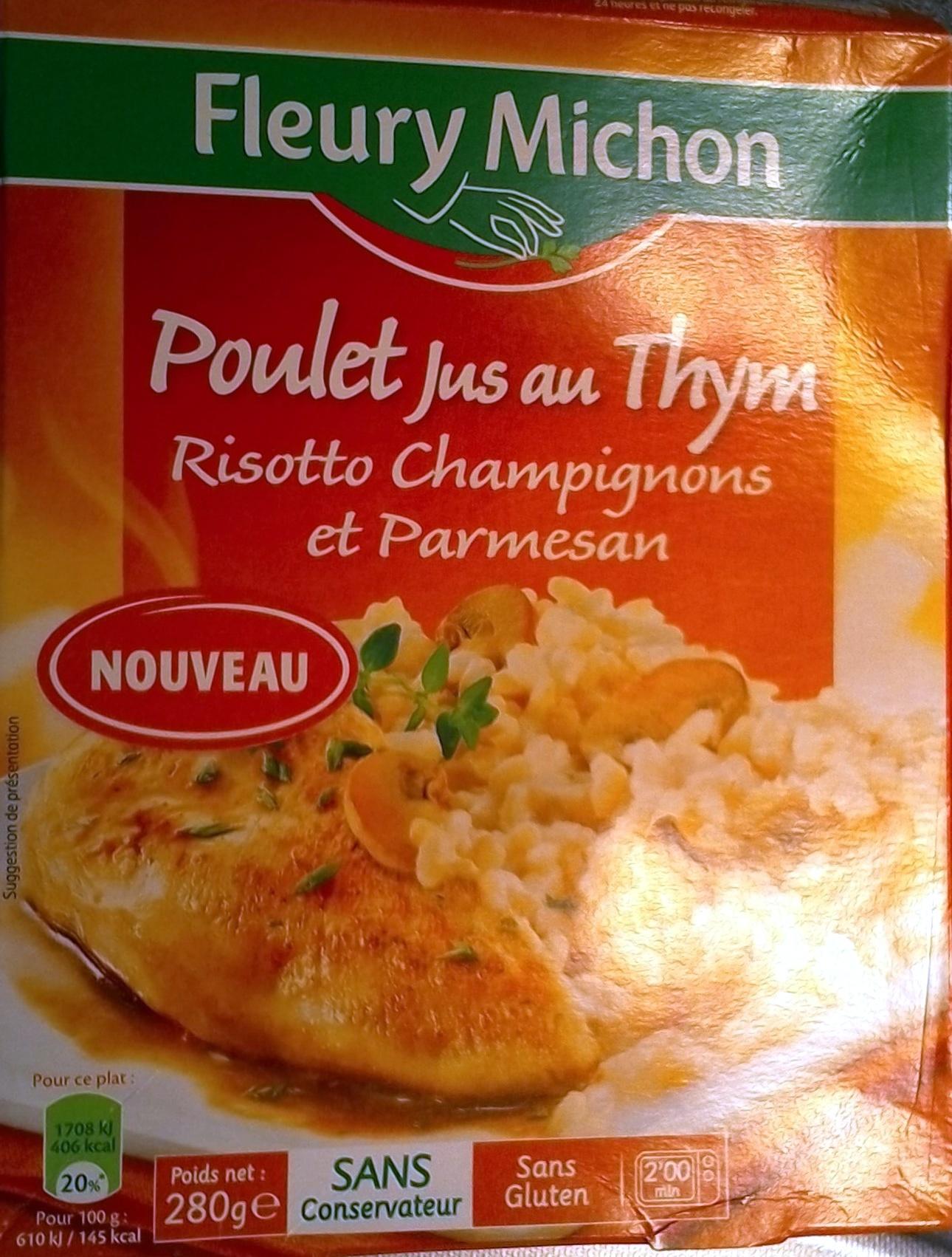 poulet au thym et son risotto