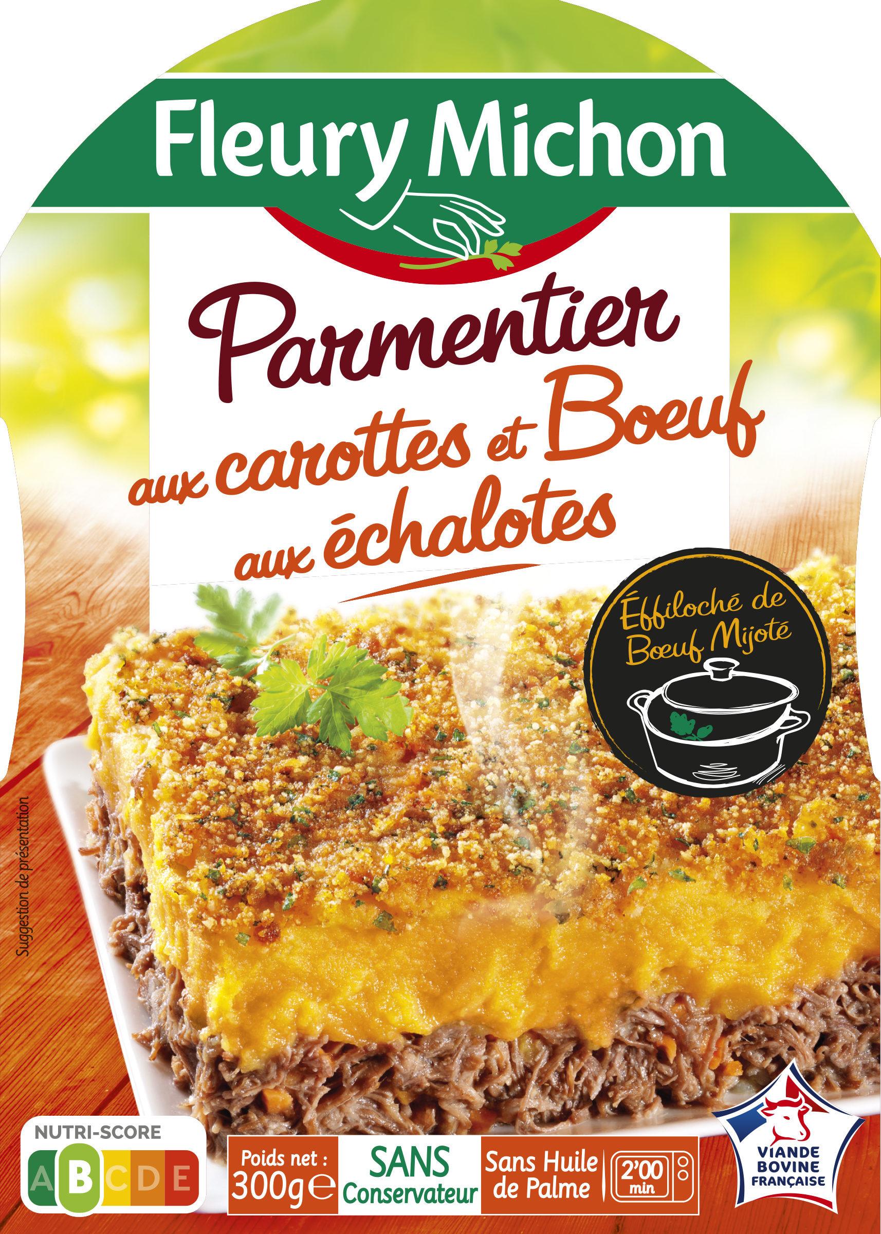 Parmentier aux carottes et Boeuf aux échalotes - Produit - fr