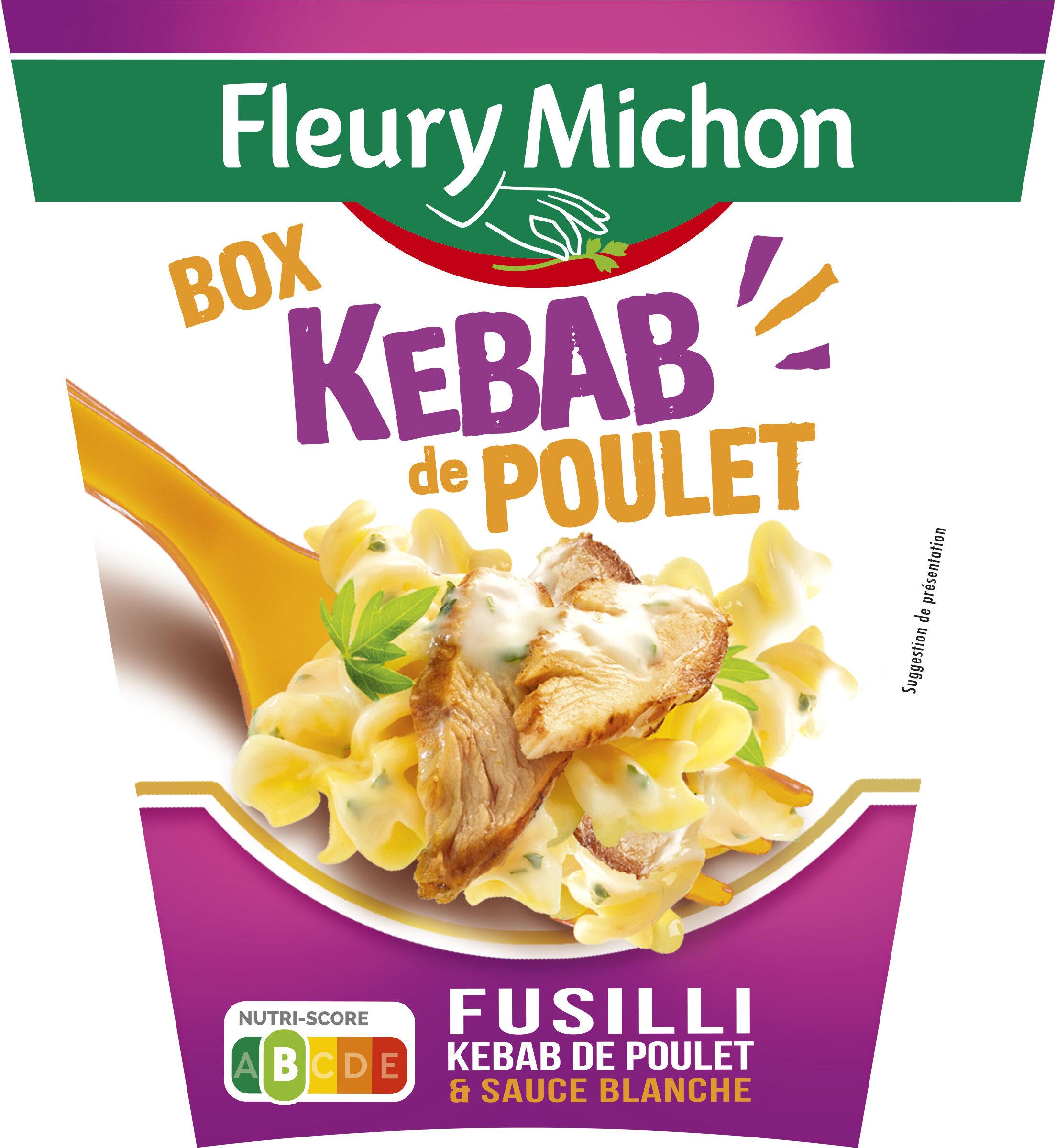 BOX KEBAB de POULET (fusilli kebab de poulet & sauce blanche) - Produit - fr