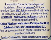 Le bâtonnet Moelleux - 32 bâtonnets - Ingrédients