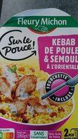 Kebab de poulet & semoule à l'orientale - Product