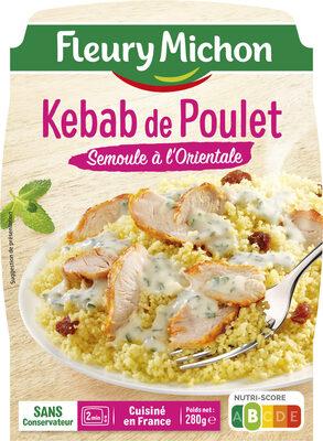 Kebab de Poulet Semoule à l'Orientale - Produit - fr