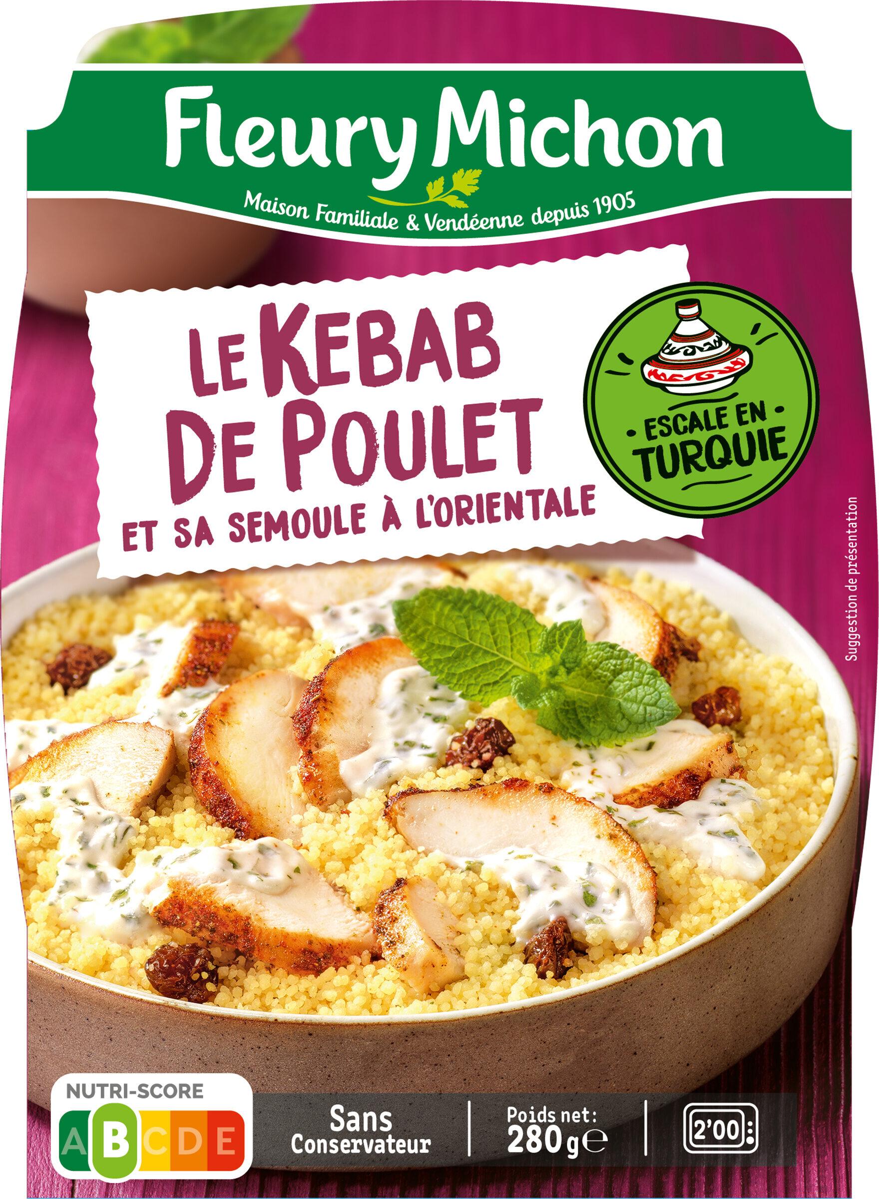 Le Kebab de Poulet et sa Semoule à l'Orientale - Prodotto - fr