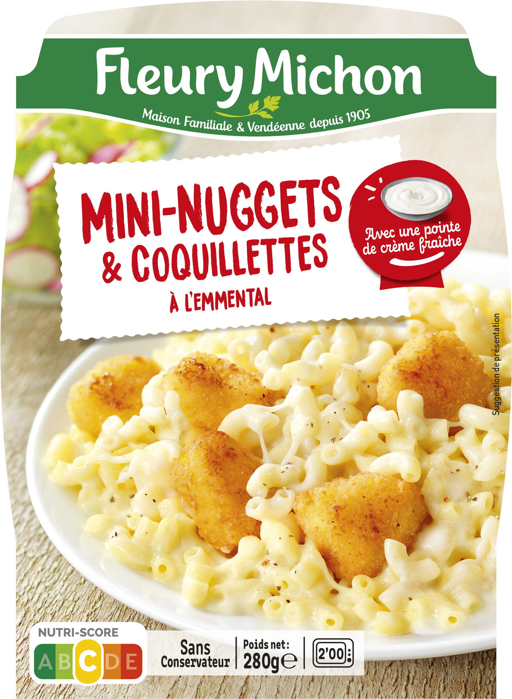 Mini nuggets & coquillettes à l'emmental - Product - fr