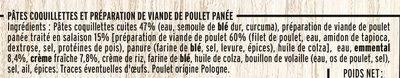 Mini Nuggets de Poulet Coquillettes à l'Emmental - Ingredients
