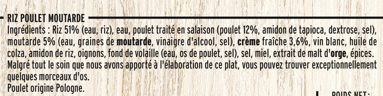 Poulet Rôti et Riz à la Moutarde à l'Ancienne - Ingrédients