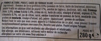 Poulet Rôti et Potatoes Sauce Blanche - Ingrédients