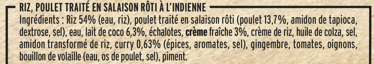 Poulet Rôti et Riz à l'Indienne - Ingrediënten