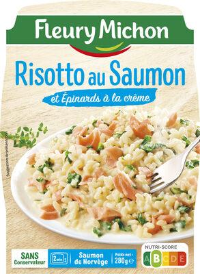 Risotto au Saumon et Epinards à la crème - Produit - fr