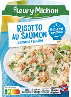 Risotto au saumon & épinards à la crème - Produit - fr