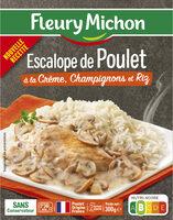 Escalope de Poulet à la Crème, Champignons et Riz - Product