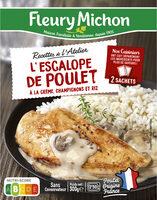 L'Escalope de Poulet à la Crème, Champignons et Riz - Produit - fr