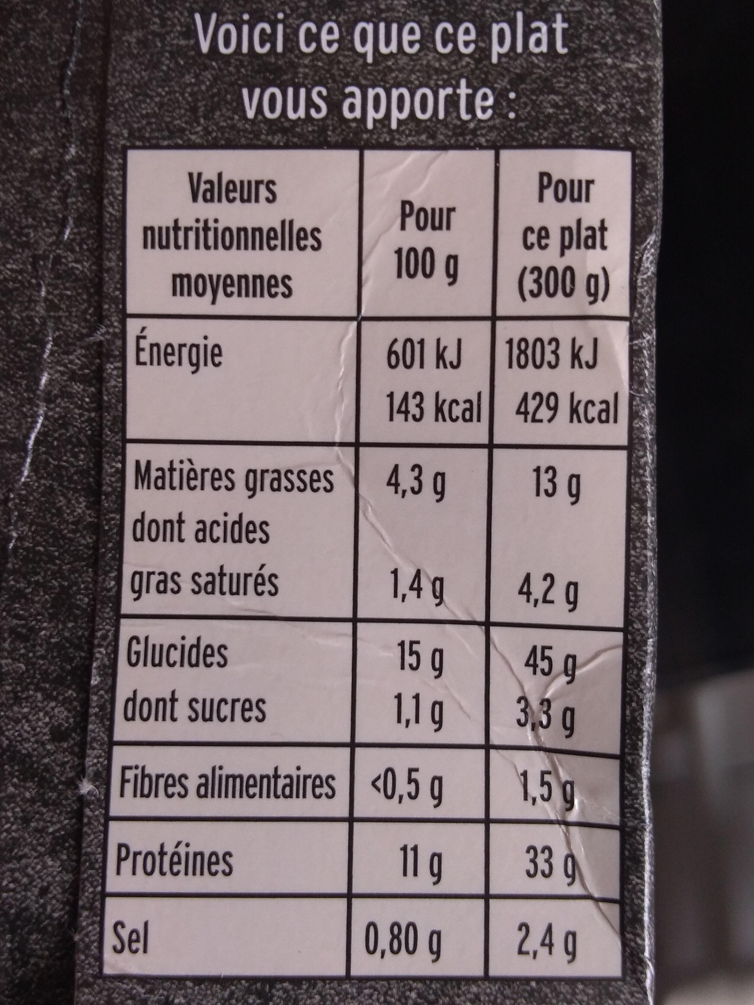 Escalope de Poulet à la Crème, Champignons et Riz - Nutrition facts