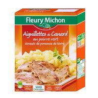 Aiguillettes de canard au poivre vert écrasée de pommes de terre - Produit - fr