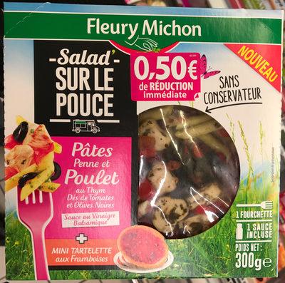 Salad' sur le pouce Pâtes Penne et Poulet au Thym + Mini tartelette aux Framboises - Produit