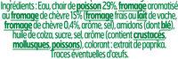 Le Coeur Frais chèvre - 16 bâtonnets - Ingredients