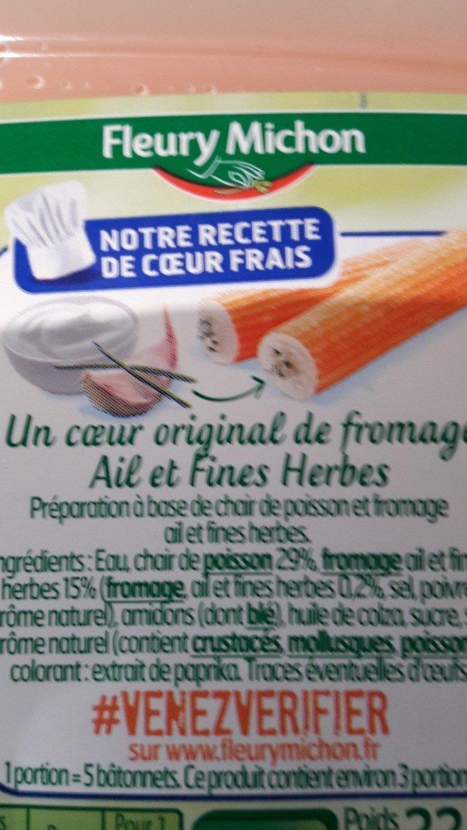 Le Coeur Frais fromage ail et fines herbes - 14 bâtonnets - Ingrediënten