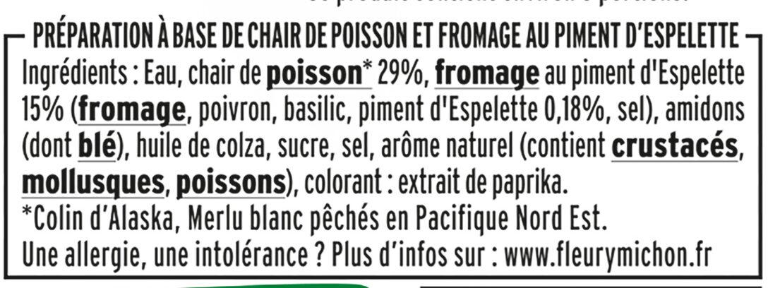 Le Coeur Frais Basque au piment d'Espelette - 14 bâtonnets - Ingrediënten
