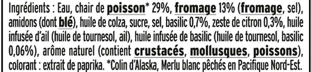Le Coeur Frais Bleu onctueux  - 14 bâtonnets - Ingredients - fr