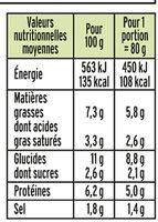 Le Coeur Frais Bleu onctueux  - 14 bâtonnets - Nutrition facts - fr