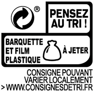 Le Coeur Frais Bleu onctueux  - 14 bâtonnets - Recycling instructions and/or packaging information - fr