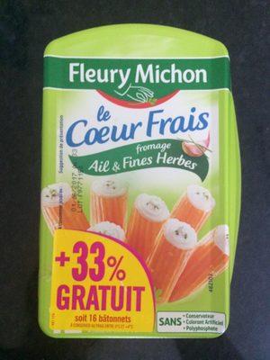Le Coeur Frais Fromage Ail et Fines Herbes - Product - fr