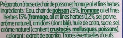 Le Coeur Frais Fromage Ail et Fines Herbes - Ingrediënten
